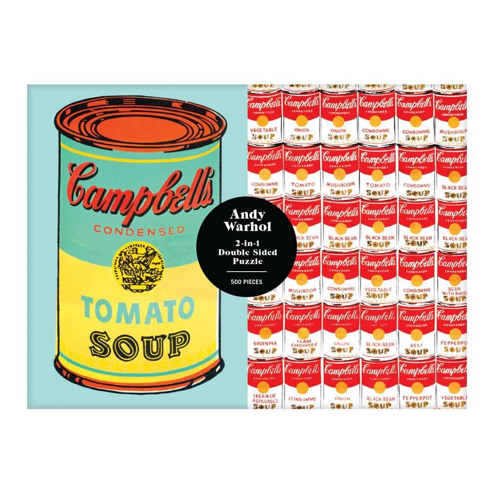 Andy Warhol Soup Can 2-sided 500 Piece Puzzle