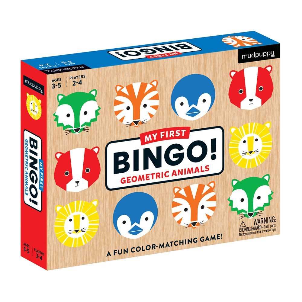 Geometric Animals My First Bingo
