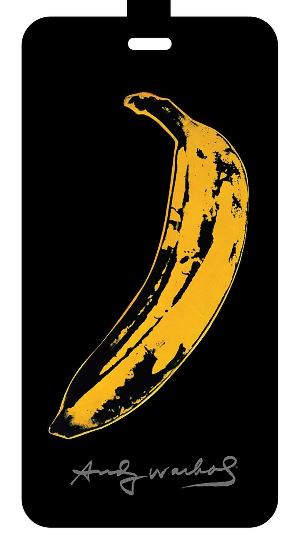 Andy Warhol Banana Luggage Tag